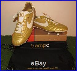BNIB Rare Nike Air Legend R10 SG Ronaldinho Gaucho Gold Mercurial Vapor Tiempo
