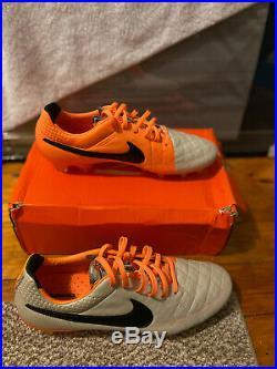 Brand New Nike Tiempo Legend V FG Desert Sand/Black-Atmc Orange