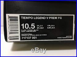 MEN'S NIKE TIEMPO LEGEND V 5 PREMIUM FG TOTTI Cleats 717137-001 Sz 10.5 LIMITED