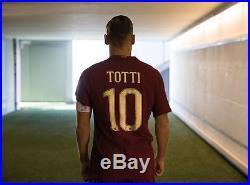 Maglia roma TOTTI NIKE derby SPQR 2016-2017 serie A tiempo legend limited worn