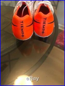 Men's Nike Tiempo Legend 7 Elite FG- White And Orange Size 11