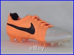 Men's Nike Tiempo Legend V FG Soccer Cleats 631518-008, Desert Sand/Orange, 8.5