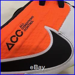 Men's Nike Tiempo Legend VI FG Soccer Cleats White/Orange 819177 109 Sz 9 Soccer