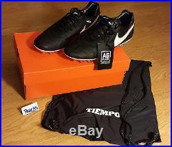 Men's Nike Tiempo Legend VI Sz 8.5 Soccer Cleats AG black gold leather fg futbol