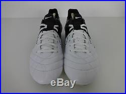 Mens Football Boots size 11 Nike Tiempo Legend IV white, black leather moulded