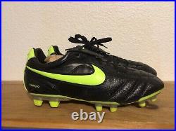 Mens Nike Tiempo Air Zoom Legend II 2 FG US Size 11.5 Soccer Cleats Black Volt