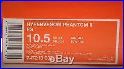 New Nike Hypervenom Phantom II Academy Pack Blackout Fg 10.5 Tiempo Legend Vapor