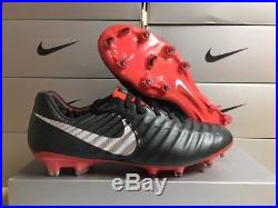 NEW! Nike Men's Tiempo Legend 7 Elite FG Soccer Cleats Black/Silver Size 11