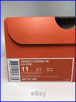 NEW Nike Tiempo Legend VII AG-PRO Soccer Cleats 897751-009 Men's 11 Black Orange