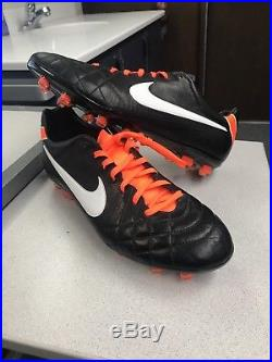 new product 204b6 e0897 September 24, 2017 NEW RARE Nike Tiempo Legend IV Elite FG Soccer Cleats  Size 12 (Black Orange