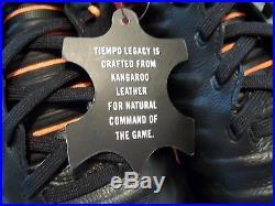 NIB Nike Tiempo Legend VII Pro FG Men's Size 10 Cleats Orange Black AH7241-080