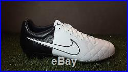 Nike Tiempo Legend Elite IV Clash Fg Uk 8 Us 9 Black White Football Boots Soccer