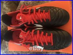 NIKE TIEMPO LEGEND IV FG Black/White/Red Size 10US