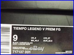 NIKE TIEMPO LEGEND V PREM FG SOCCER CLEAT FRANCESCO TOTTI MEN'S 9 717137-001