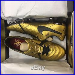 NIKE TIEMPO LEGEND VI 6 SE FG Totti Roma gold Size US 12 UK 11 EUR 46 NIB LTD