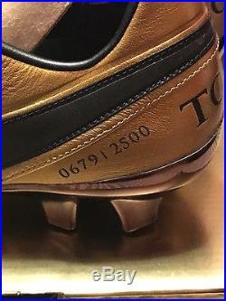 NIKE TIEMPO LEGEND VI SE FG Totti Roma 2500 Pairs Limited Edition SIZE 9.5 MENS
