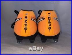 NIKE TIEMPO LEGEND VII FG BLACK LASER ORANGE VOLT MENS (897752-008) Retail 230$