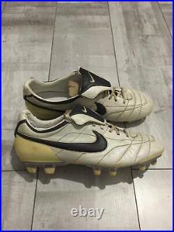 NIKE TIEMPO Zoom AIR Legend Football Cleats White US10.5 UK9.5 Ronaldinho RARE