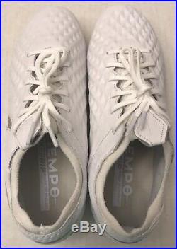 NIKE Tiempo Legend 8 Elite FG Soccer Cleats AT5293-100 White (MEN'S 7) NO LID