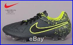NIKE Tiempo Legend V FG Sports Soccer Cleat Football Shoes Grey Spike 631518-006