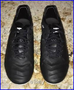 NIKE Tiempo Legend VI FG ACC Black White Gold Soccer Cleat Mens Sz 6 7.5 8 8.5 9