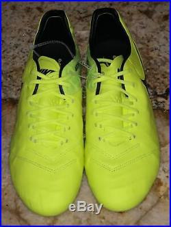 NIKE Tiempo Legend VI FG ACC Volt Black Soccer Cleats Boots NEW Mens Sz 10.5