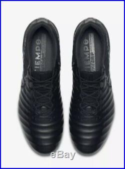 NWT Nike Tiempo Legend VII 7 Elite FG Black Soccer Cleats AH7238-001 SZ- 8