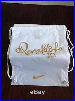New Authentic Nike Ronaldinho Tiempo Legend V Size 9.5 Touch Of Gold Limited