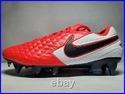 (New Men's 7.5) Nike Tiempo Legend 8 Elite SG ACC Red Soccer Cleat (AT5900-606)