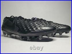 (New Men's 9.5) Nike Tiempo Legend 8 Elite FG Black Soccer Cleats (AT5293-010)