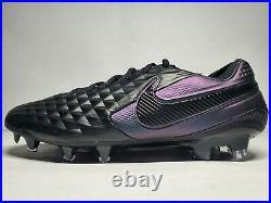 (New Men's 9) Nike Tiempo Legend 8 Elite FG Black Soccer Cleats (AT5293-010)