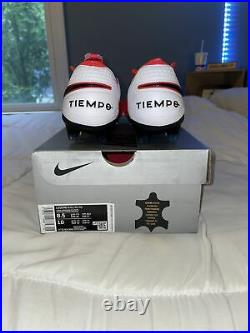 New Mens Nike Tiempo Legend 8 Elite FG Crimson Red Size 8.5 AT5293-606