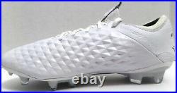 New NIB Nike Tiempo Legend 8 Elite FG White Leather ACC Men Size 7.5/ Women 9