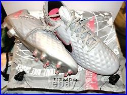 New Nike Tiempo Legend 8 Elite FG Soccer Cleats metallic gray Men's Size 8