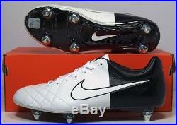 New Nike Tiempo Legend IV Elite SG Soccer Cleats Sz 13 White Black 453956-106