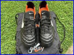 New Nike Tiempo Legend IV SG, UK 10.5, Black / White / Orange