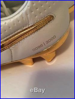 New Nike Tiempo Legend Touch Of Gold Size 9.5 Rare 0096/3000 Ronaldinho Tribute