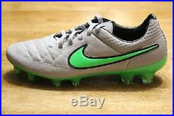New Nike Tiempo Legend V FG Soccer Cleats Wolf Grey Men's Size 7-9.5 631518 030