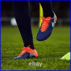 New Nike Tiempo Legend VI FG Soccer Cleats Sz 10 Royal Blue Chrome 819177-409