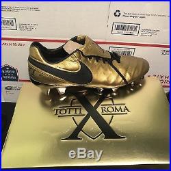 4cb4a1da4 New Nike Tiempo Legend VI Totti X Roma Gold Soccer Cleats Superfly Vapor VII