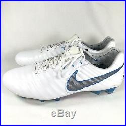 205bce2acfe7 New Nike Tiempo Legend VII Elite FG Sz 11.5 Soccer Cleats White Blue  AH7238-108