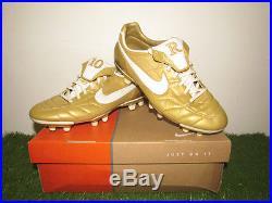 Nike Air Legend FG R10 Gold Tiempo Ronaldinho Mercurial Vapor Soccer Shoes