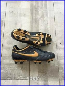 Nike Air Legend FG TIEMPO AIR ZOOM 310113-471 Size US 9.5 UK 8.5 Blue Gold