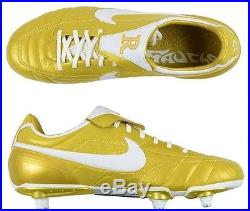 Nike Air Legend Ronaldinho Tiempo Gold R10 soccer cleats boots football NEW