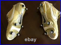 Nike Air Legend Ronaldinho Tiempo Gold Soccer Cleats