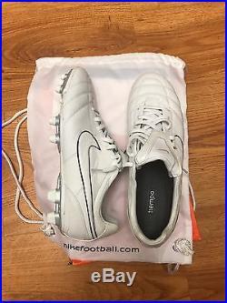 Nike Air Legend Tiempo II 11.5 Rare White Soccer Boots Ronaldinho Messi Ronaldo