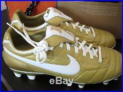 971fa9b886c Nike Air Tiempo Legend Fg Ronaldinho R10 Gold Football Soccer Cleats ...