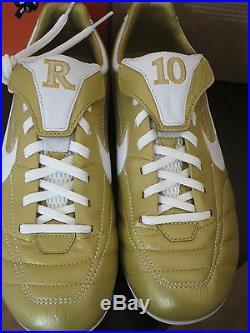 detailed look a3309 cd410 Nike Air Tiempo Legend Fg Ronaldinho R10 Gold Football ...