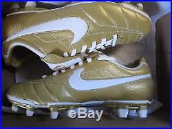 ee424be709e Nike Air Tiempo Legend Fg Ronaldinho R10 Gold Football Soccer Cleats Bnib  Rare