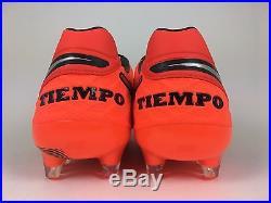 Nike Men's Tiempo Legend VI Fg Soccer Cleat Crimson Red Silver Sz 11 819177-608